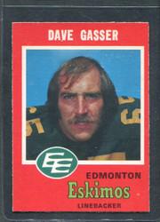 1971 DAVE GASSER OPC CFL #55 O PEE CHEE ESKIMOS #2845