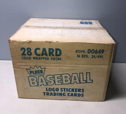 1983 FLEER BASEBALL FACTORY SEALED 16 BOX CELLO CASE