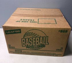 1986 LEAF BASEBALL 24 BOX FACTORY SEALED WAX CASE