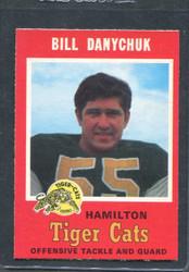 1971 BILL DANYCHUK OPC CFL #68 O PEE CHEE HAMILTON #2836