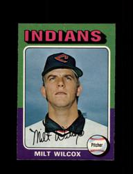 1975 MILT WILCOX OPC #14 O PEE CHEE INDIANS *R3124