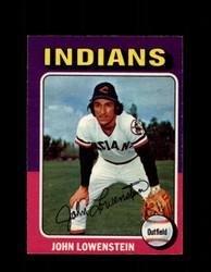 1975 JOHN LOWENSTEIN OPC #424 O-PEE-CHEE INDIANS *R3357