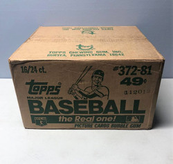 1981 TOPPS BASEBALL FACTORY SEALED 16 BOX CELLO CASE