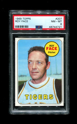 1969 ROY FACE TOPPS #207 TIGERS PSA 8