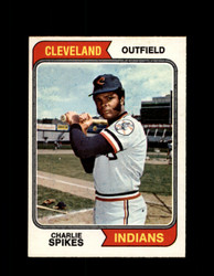 1974 CHARLIE SPIKES OPC #58 O-PEE-CHEE INDIANS *R1882