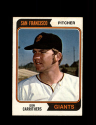 1974 DON CARRITHERS OPC #361 O-PEE-CHEE GIANTS *R3926