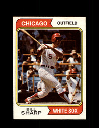 1974 BILL SHARP OPC #519 O-PEE-CHEE WHITE SOX *R4055