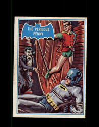 1966 BATMAN OPC #43B A PERILOUS PENNY BLUE BAT *R1261