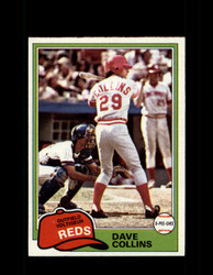 1981 DAVE COLLINS OPC #175 O-PEE-CHEE REDS GRAY BACK *R4213