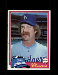 1981 DON STANHOUSE OPC #24 O-PEE-CHEE DODGERS GRAY BACK *R4216