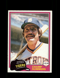 1981 CHAMP SUMMERS OPC #27 O-PEE-CHEE TIGERS GRAY BACK *R4222