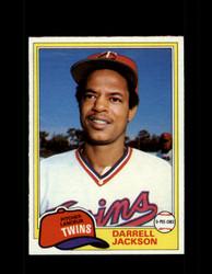 1981 DARRELL JACKSON OPC #89 O-PEE-CHEE TWINS GRAY BACK *R4230
