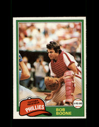 1981 BOB BOONE OPC #290 O-PEE-CHEE PHILLIES GRAY BACK *R4250