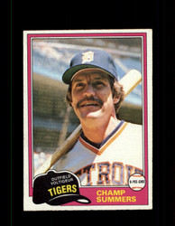 1981 CHAMP SUMMERS OPC #27 O-PEE-CHEE TIGERS GRAY BACK *R3386
