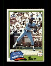 1981 AL OLIVER OPC #70 O-PEE-CHEE RANGERS GRAY BACK *R3176