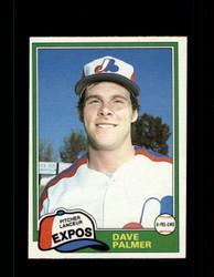 1981 DAVE PALMER OPC #243 O-PEE-CHEE EXPOS GRAY BACK *R3260