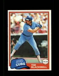 1981 TIM BLACKWELL OPC #43 O-PEE-CHEE CUBS GRAY BACK *7112