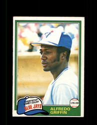 1981 ALFREDO GRIFFIN OPC #277 O-PEE-CHEE BLUE JAYS GRAY BACK *R3466