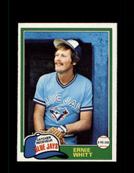 1981 ERNIE WHITT OPC #282 O-PEE-CHEE BLUE JAYS GRAY BACK *R3652