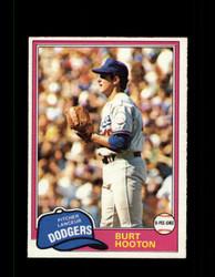 1981 BURT HOOTON OPC #53 O-PEE-CHEE DODGERS GRAY BACK *R3622