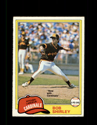 1981 BOB SHIRLEY OPC #49 O-PEE-CHEE CARDINALS GRAY BACK *R3232