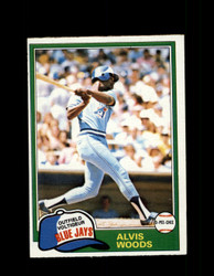 1981 ALVIS WOODS OPC #165 O-PEE-CHEE BLUE JAYS GRAY BACK *R3155