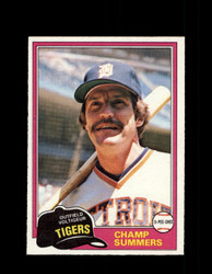 1981 CHAMP SUMMERS OPC #27 O-PEE-CHEE TIGERS GRAY BACK *7639