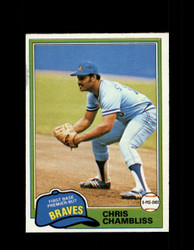 1981 CHRIS CHAMBLISS OPC #155 O-PEE-CHEE BRAVES GRAY BACK *2115