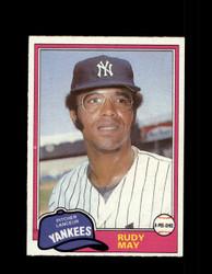 1981 RUDY MAY OPC #179 O-PEE-CHEE YANKEES GRAY BACK *4217