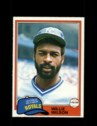 1981 WILLIE WILSON OPC #360 O-PEE-CHEE ROYALS GRAY BACK *R3639