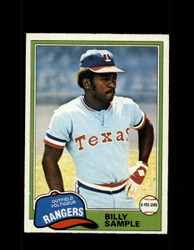 1981 BILLY SAMPLE OPC #283 O-PEE-CHEE RANGERS GRAY BACK *R3210