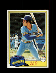 1981 JULIO CRUZ OPC #121 O-PEE-CHEE MARINERS GRAY BACK *7115
