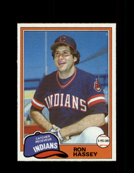 1981 RON HASSEY OPC #187 O-PEE-CHEE INDIANS GRAY BACK *8218