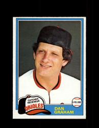 1981 DAN GRAHAM OPC #161 O-PEE-CHEE ORIOLES GRAY BACK *8242