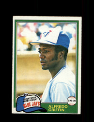 1981 ALFREDO GRIFFIN OPC #277 O-PEE-CHEE BLUE JAYS GRAY BACK *5871