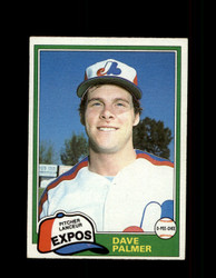 1981 DAVE PALMER OPC #243 O-PEE-CHEE EXPOS GRAY BACK *3044