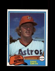 1981 DAVE SMITH OPC #287 O-PEE-CHEE ASTROS GRAY BACK *6434