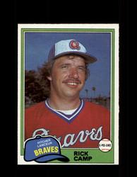 1981 RICK CAMP OPC #87 O-PEE-CHEE BRAVES GRAY BACK *R4263