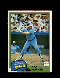1981 BOB HORNER OPC #355 O-PEE-CHEE BRAVES GRAY BACK *R4267