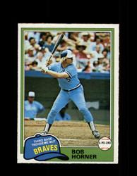 1981 BOB HORNER OPC #355 O-PEE-CHEE BRAVES GRAY BACK *R4271
