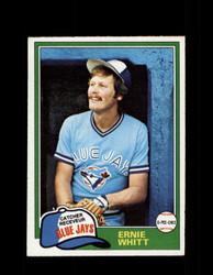 1981 ERNIE WHITT OPC #282 O-PEE-CHEE BLUE JAYS GRAY BACK *R4272