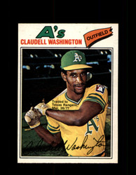 1977 CLAUDELL WASHINGTON OPC #178 O-PEE-CHEE ATHLETICS *R4547