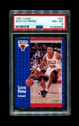 1991 SCOTTIE PIPPEN FLEER #33 BULLS PSA 8