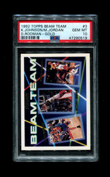 1992 TOPPS BEAM TEAM #3 GOLD MICHAEL JORDAN PSA 10