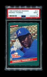 1986 ANDRES THOMAS DONRUSS ROOIKIES #10 BRAVES PSA 9