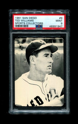 1981 TED WILLIAMS SAN DIEGO #9 SPORTS COLLECTORS PSA 9