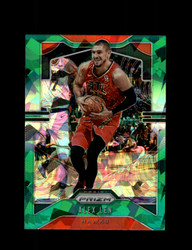 2019 ALEX LEN PRIZM #38 CRACKED GREEN ICE HAWKS *R5155