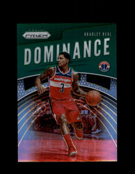 2019 BRADLEY BEAL PRIZM #5 DOMINANCE GREEN WIZARDS *1435