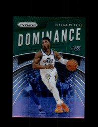 2019 DONOVAN MITCHELL PRIZM #9 DOMINANCE GREEN JAZZ *3972