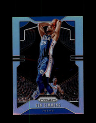 2019 BEN SIMMONS PRIZM #198 SILVER 76ERS *R5329